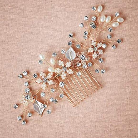 Accessories - Rose Gold Bridal Comb